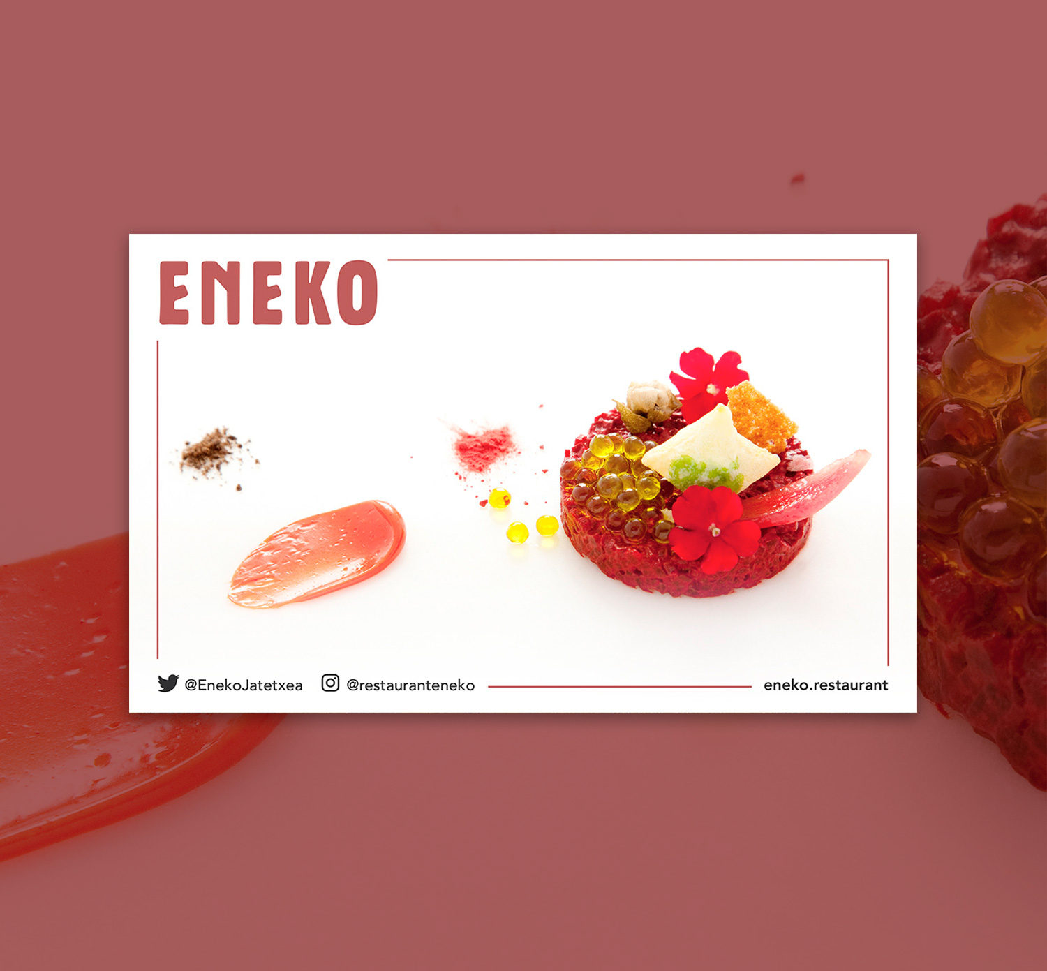 Sutan menu gift card at ENEKO restaurant