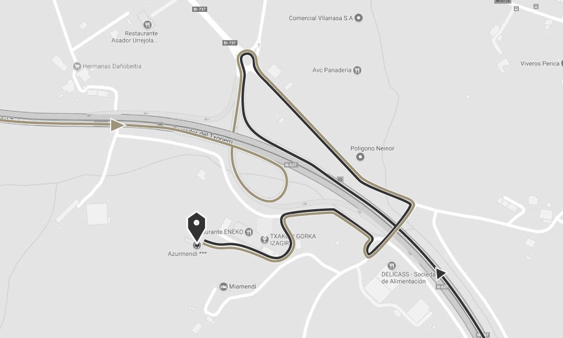 Mapa Azurmendi - Cómo llegar