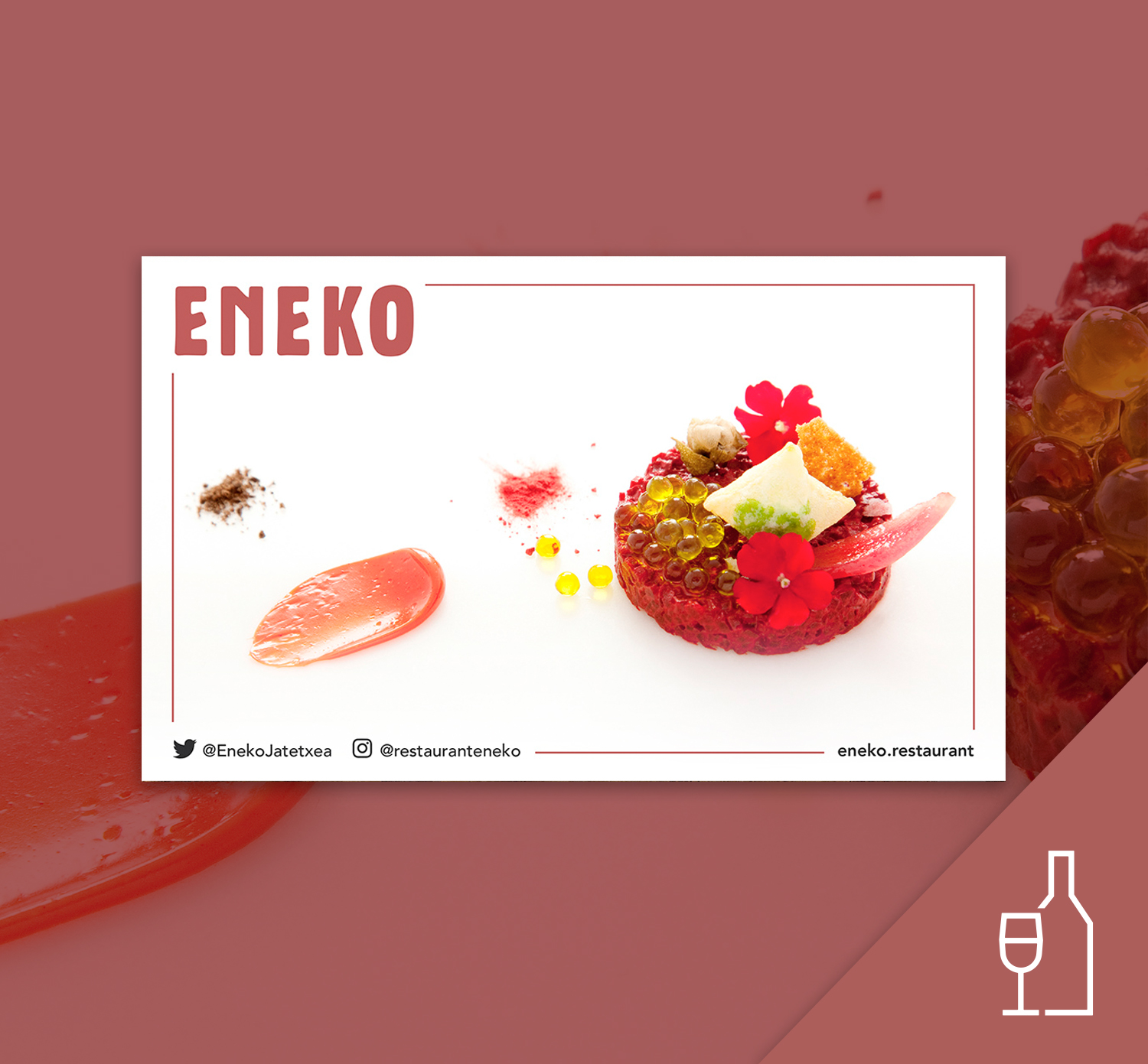 Sutan menu gift card at ENEKO restaurant + pairing